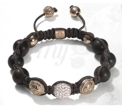Bracelet Shamballa Or Rose et Diamants
