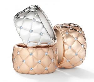 Bague Faberge Matelassé avec des diamants