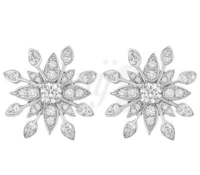 Boucles d'oreilles Alexandra de Burma en argent et burmalites blanches