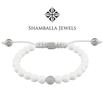Bracelet boules Shamballa Jewels en blanc