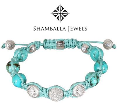 Bracelet avec turquoises de Shamballa jewels