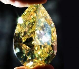 Diamant Incomparable jaune et brun