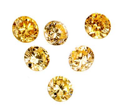 Diamants de couleurs jaunes