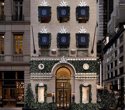 Façade de Noël Cluster - Harry Winston New York