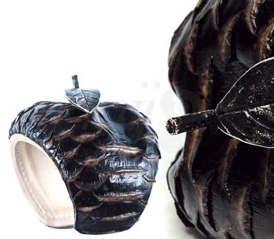 Manchette Pomme Python Brûlé - Nicolas Theil