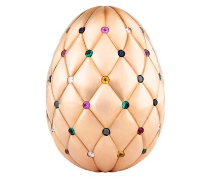 Oeuf Faberge en or rose et pierres précieuses