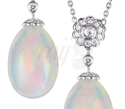 Pendentif Opale Karénine - Fabergé