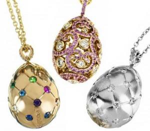 Pendentifs oeuf de Fabergé