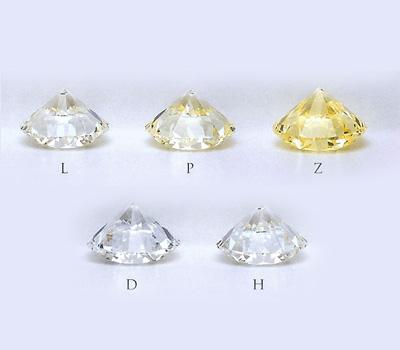 Différentes teintes du diamant