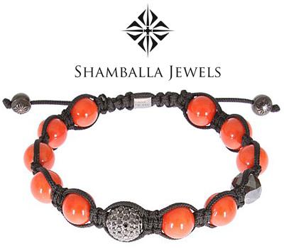 Vrai bracelet Shamballa avec des diamants noirs