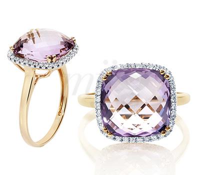 Bague Améthyste et Diamants - Tomassa