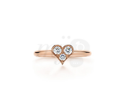 Bague Coeur Or Rose - Tiffany