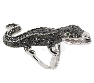 Bague Crocodile Edouard Nahum et Richard Orlinski