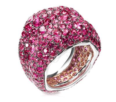 Bague Fabergé Émotion avec des saphirs roses
