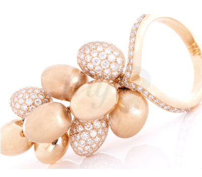 Bague Grappe Diamants - By Flavie
