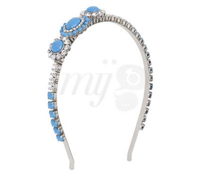 Headband Bijou Bleu - Miu Miu