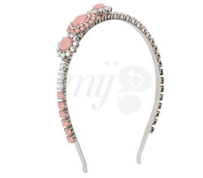 Headband Bijou Rose - Miu Miu