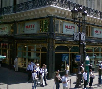 Vitrine de la boutique Maty Opéra à Paris