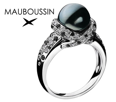 Bague de fiançailles Mauboussin Perle Caviar