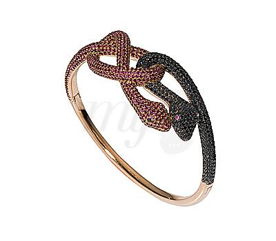 Bracelet Serpents Entrelacés - Élise Dray
