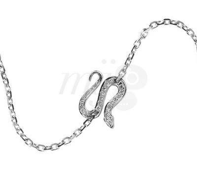 Bracelet Sneaky Pavé Diamants Chainette Or - Redline