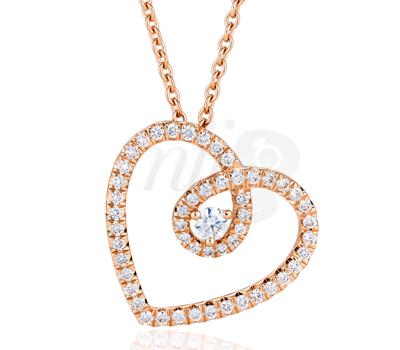 Pendentif Diamants Coeur - De Beers Saint Valentin 2013.