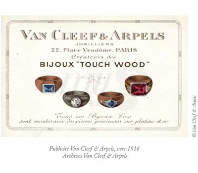 Publicite Touchons du Bois - Van Cleef & Arpels 1916