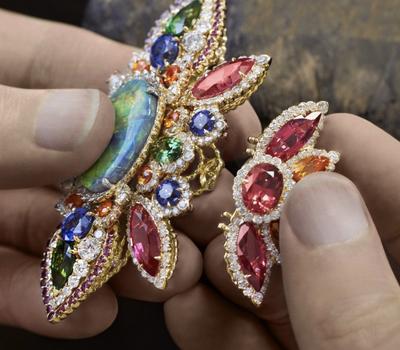 Assemblage Dentelle Opale d'Orient - Dior