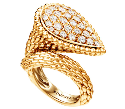 Bague serpent en or de Boucheron