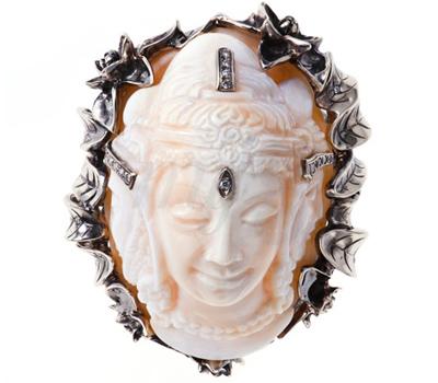 Bague Trimurti Dessus - Runa Jewellery.
