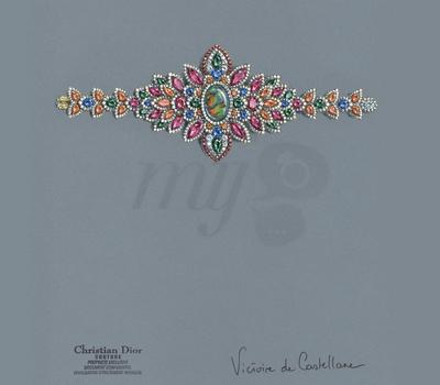 Gouache Bracelet Dentelle Opale d'Orient - Dior
