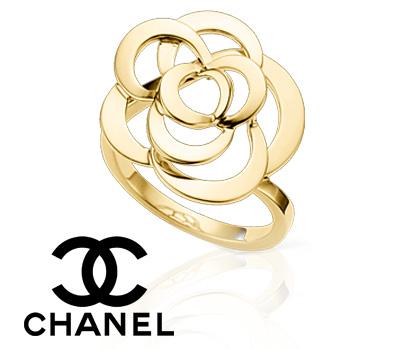 Bague Camelia Chanel or jaune