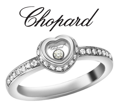 Bague Chopard Happy Diamond et diamants