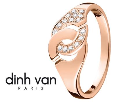 Bague or rose Dinh Van Menottes