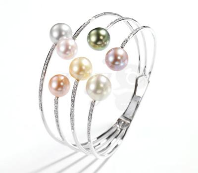 Bracelet Perles Comètes - Tecla Joaillerie