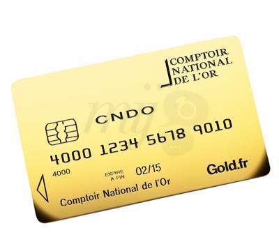 Carte Gold Or - Comptoir National de L'or