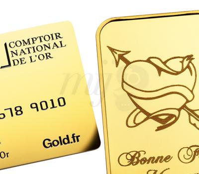 Carte et Lingot Or Massif - Comptoir National de L'or