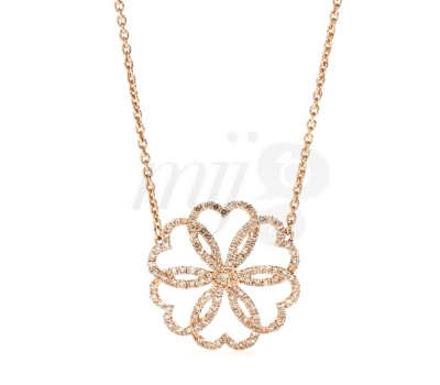 Collier Rosace Or Rose Diamants - Poiray
