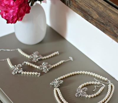 Parure de bijoux de mariage