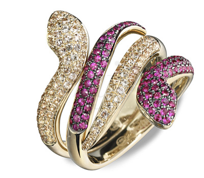 Bague Dangerous Kiss Serpent Mix Match - Seijna