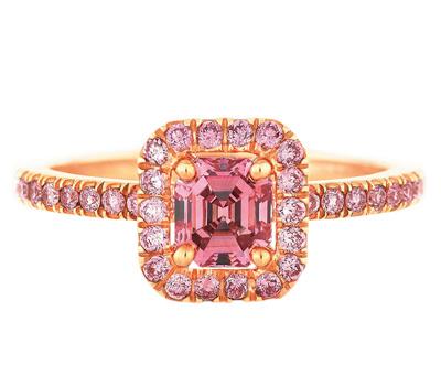 Bague diamant rose Aura de De Beers