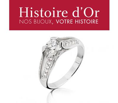 Bague de fiançailles diamant Histoire d'Or