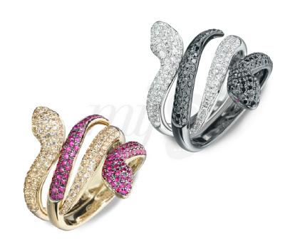 Bagues Dangerous Kiss Saphirs Diamants - Seijna