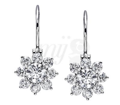 Boucles d'oreilles Sunflower diamants par Harry Winston