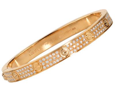 Bracelet Love de Cartier en or rose