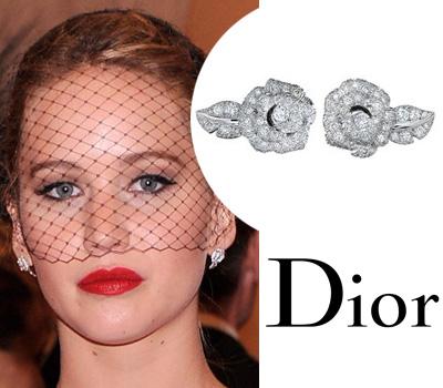 Jennifer Lawrence et ses bijoux Dior