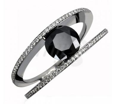 Bague de Fiançailles Diamant Noir Edendiam