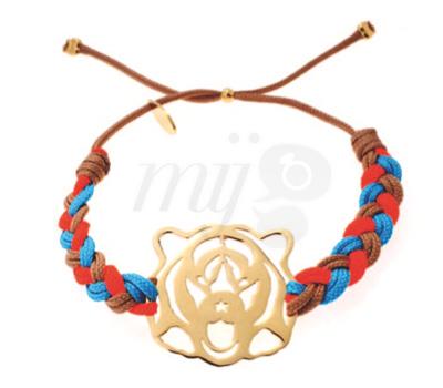 Bracelet Tigre argent ou plaqué or de Nilaï