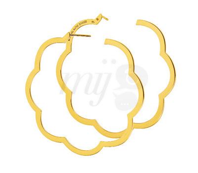 Créoles Profil Camélia or jaune de Chanel joaillerie