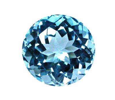 Pierre topaze bleue taille ronde
